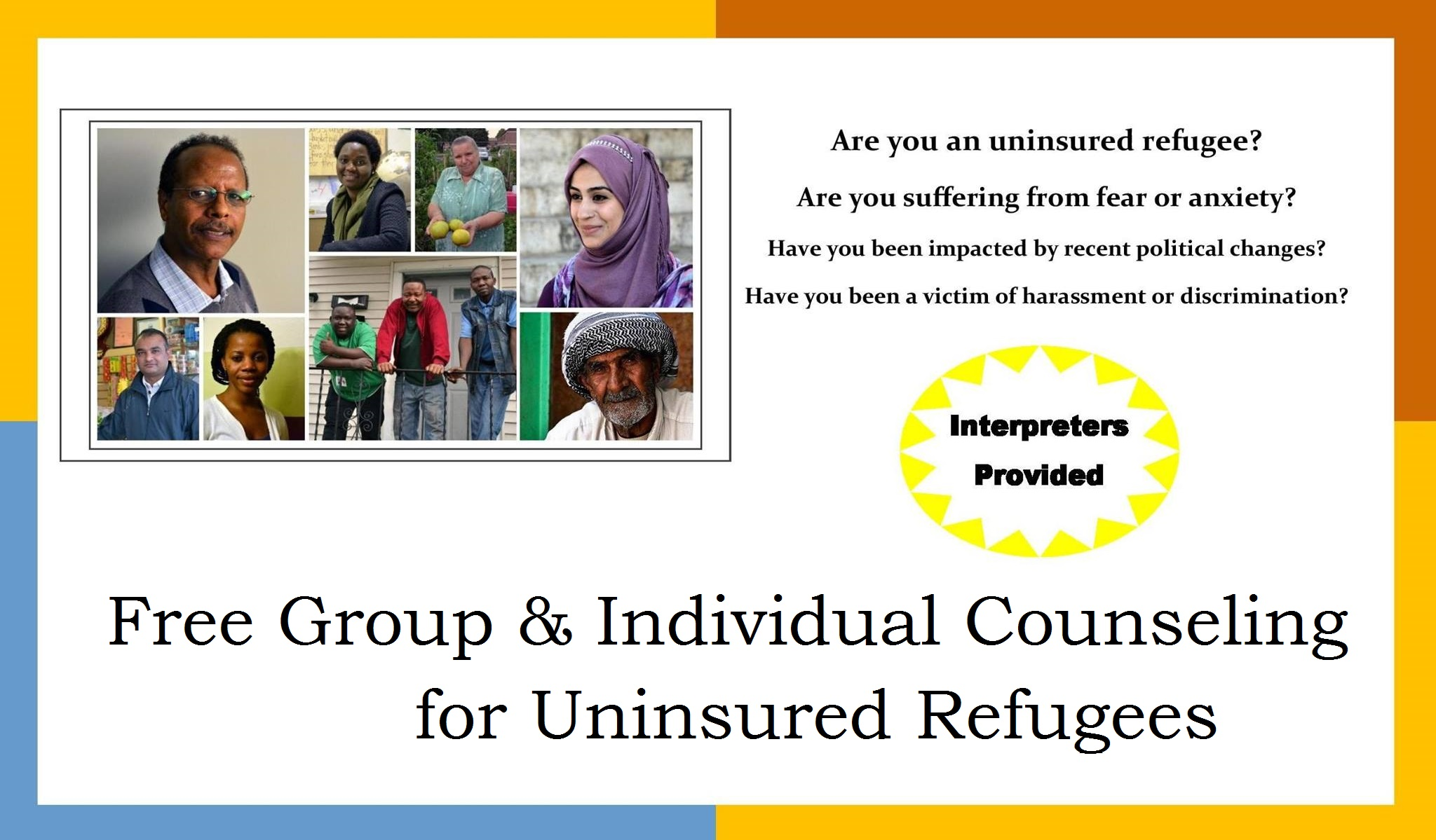Free Mental Health Counseling for Refugees